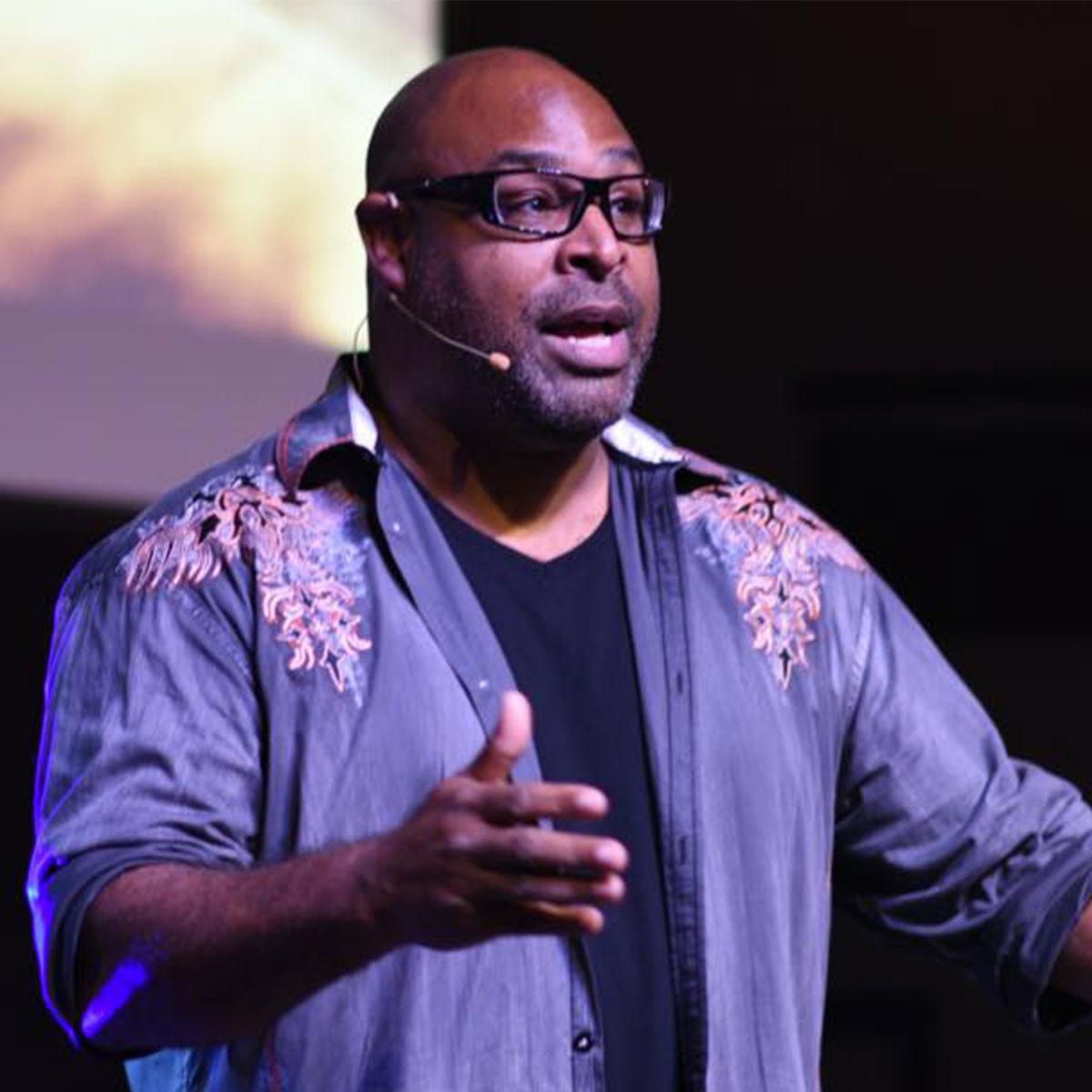 Bishop Steve Yates preaching